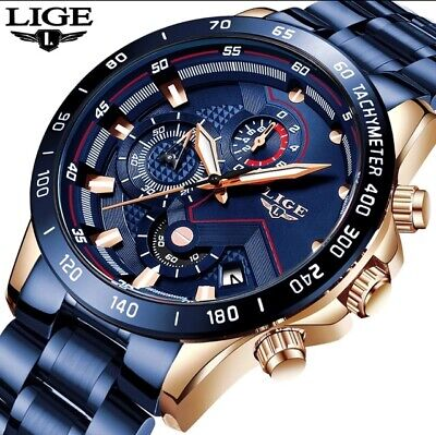 2019 New Fashion Mens Watches with Stainless Steel Top Brand Luxury