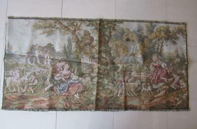 Unused Outstanding Vintage Lge Unframed Italian Tapestry Art Décor Wall Hanging