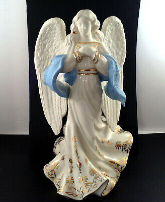 Lenox First Blessing Nativity Angel of Hope Christmas Figurine Gold Accents