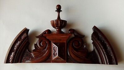 CROWN WOODEN TO THE CLOCK GERMAN VIENNA LENZKIRCH REGULATOR BECKER No.64