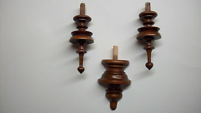 WOODEN SET FINIALS  TO THE ANTIQUE CLOCK VIENNA REGULATOR BECKER LENZKIRCH No.44
