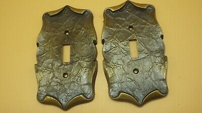 2 Vintage Amerock Carriage House Single Light Switch Cover Plates
