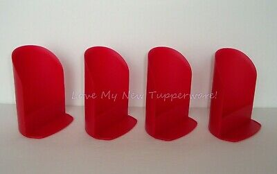 Tupperware Rocker Scoops Set of 4 Flour Sugar Rice Pet Food Red New