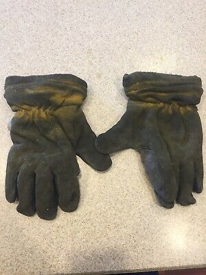 Honeywell GL-9550 Firefighter Turnout Gloves Kangaroo Skin Size MEDIUM GUC