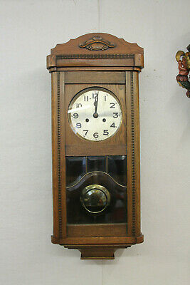 Antique Wall Clock Chime Clock Regulator 1920th century with 4 hammer