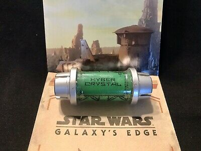 Disney Star Wars Galaxy's Edge Kyber Crystal GREEN Lightsaber Holocron SEALED