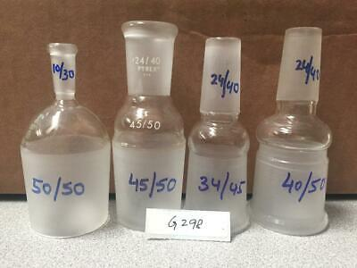 Lab Glassware- Pyrex Assorted Stoppers Lot Of 4 (Item G-298)