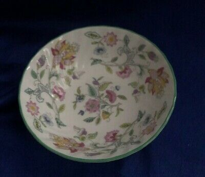 Minton Haddon Hall Green Rim Cereal Sauce Berry Bowl