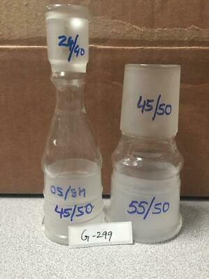 Lab Glassware- Pyrex Assorted Stoppers Lot Of 2 (Item G-299)