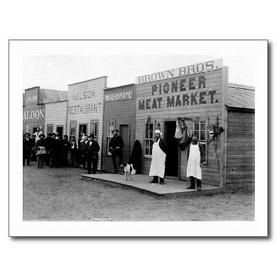 "Postcard-""4 Classic Business's"" - Market Saloon Restaurant Real Estate- (B307)"