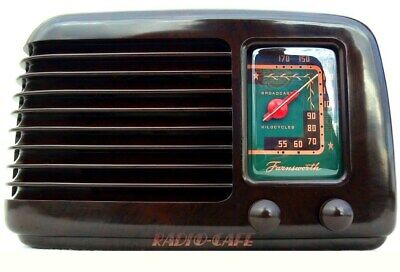 "VERY RARE! 1941 FARNSWORTH DECO Bakelite Tube Radio OBSCURE! ""Green Dial"" L👀K!"