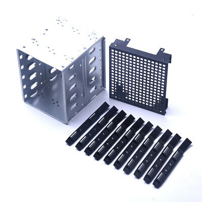 """For 5.25"""" to 5X 3.5"""" SATA SAS HDD Hard Drive Cage Tray  Bracket &FAN Space"""