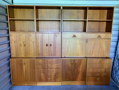 Danish Mid Century Mod Modular Wall Unit Storage Scandinavian Design Furniture