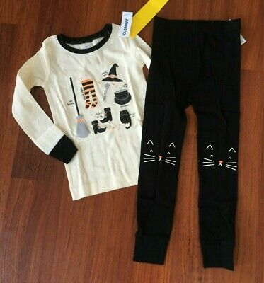 NWT Old Navy Girls size 4T Halloween 2pc Witch Essentials Pajamas Snug Fit
