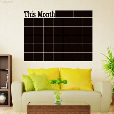 AD96 SDL Wall Sticker Decor DIY Monthly Blackboard Calendar Mural
