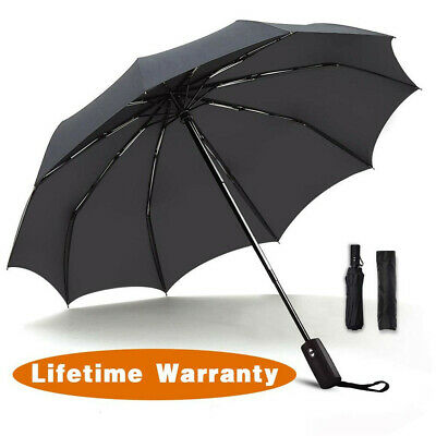 Teflon Coating Umbrella Repel Compact Lightweight Windproof Strong Wind Travel