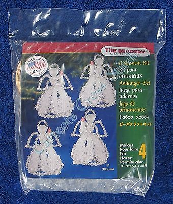 "Christmas Bead Kit Caroling Angels Ornament Makes 4 4"" 10.2 cm Quick & Easy"