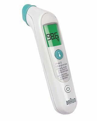Braun Forehead Thermometer Fever Guidance For Infants, Children and Adults