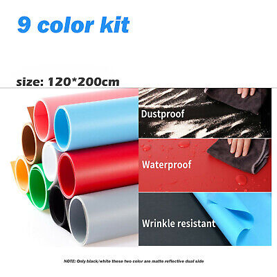 Washable PVC Matte Glossy Photo Background Backdrop Studio Photography Prop AU