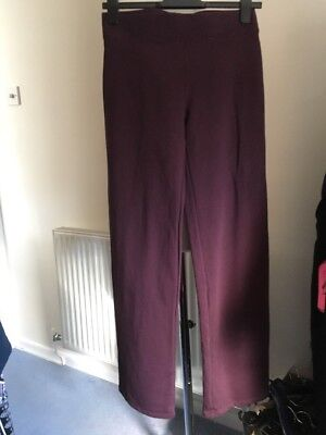M&S Track Suit Bottoms Uk 8 Berry