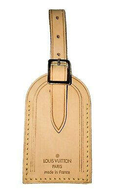 Louis Vuitton Name ID Leather Bag Tag - 💯% Authentic! 🇫🇷  LARGE - One Pc