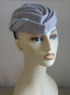 Alva Gorgeous Crinkle Grey Felt Superb Fascinator Headpiece Hat Wedding or Ascot