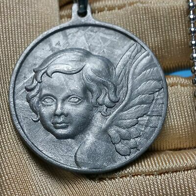 Perfect Beautiful Meteorite Muonionalusta Angel Pendant Collectible Amulet