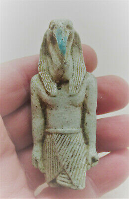 Ancient Egyptian Glazed Faience Thoth Statuette