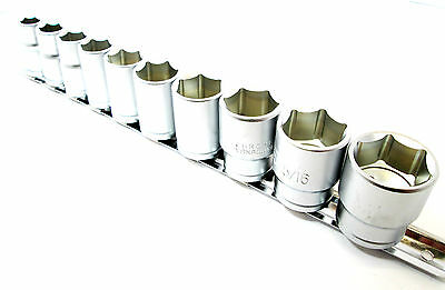 Shallow Imperial Socket Set 10pc 1/2 Inch Drive AF SAE Sockets SS208