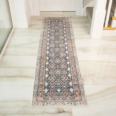 Red Grey Soft Low Pile Modern Long Hall Hallway Runners Traditional Kitchen Mat
