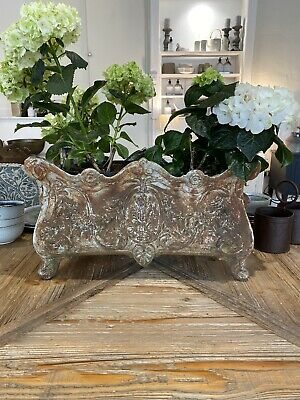 Ornate French Cast Iron Planters Antique Garden Decorative