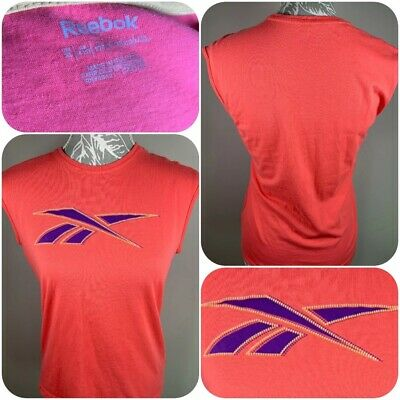 Vintage Reebok Sports Tank Vest Top Size Age  14 - 15 Years Pink