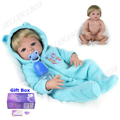 "22"" Lifelike Full Body Vinyl Reborn Dolls Realistic Boy Newborn Baby Doll Gifts"