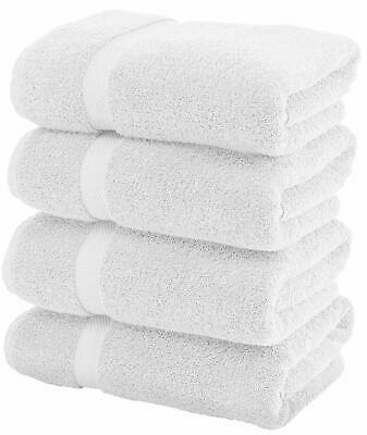Luxury Egyptian Quality 100/% Cotton Bath Towels 4 pieces in white heavy 720 GSM