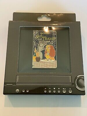 Disney Parks Lady and the Tramp VHS Tape LE 1500 Disney Pin (B)