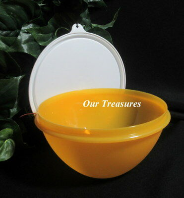 Tupperware New Small 3 Cup Wonderlier Bowl Bright Goldenberry w White Seal