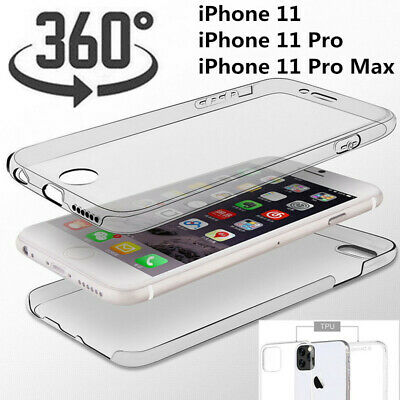 For iPhone 11 Pro Max XS XR 8 7 Shockproof 360 Protect TPU Clear Soft Case Cover