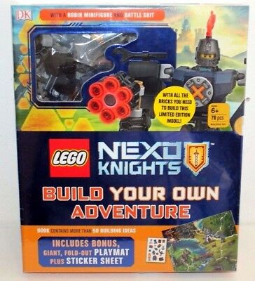 Lego Nexo Knights Build Your Own Adventure W/ A Robin Minifigure 78 Pcs  Ages 6+