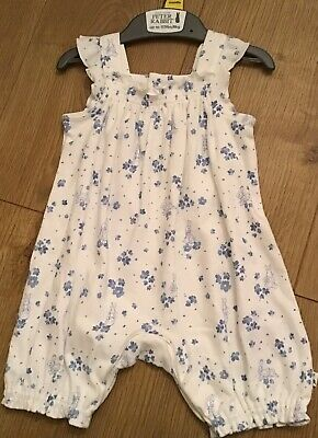 Mothercare Peter Rabbit Baby Girls Romper/short All In One 3-6 Months 🐰