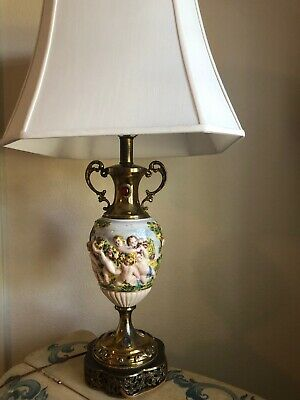 capodimonte lamp Italian, excellent condition, 31 inches tall, 6 inches wide
