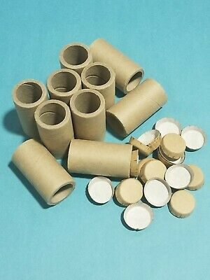 "10 FIREWORKS KRAFT PAPER TUBES 1 1/4"" x 3"" HEAVY THICK WALL PLUS 20 END CAPS"