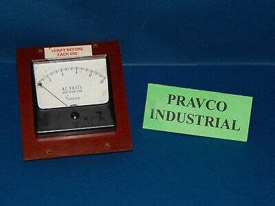 "Simpson 0-15 AC Volts Panel Meter 3.50"" Face Rectifier Type 0-15ACVolts"