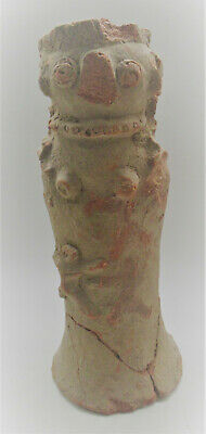 Museum Quality Ancient Indus Valley Harappan Pillar Idol With Climbing Monkey