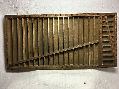 Vintage Wooden Hamilton (Two Rivers, WI) Compact Rule Case/ Printer's Box / Tray