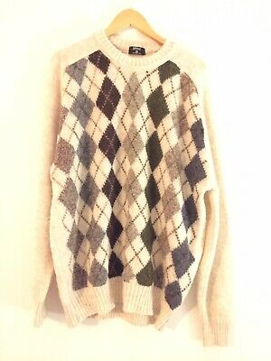 True Vintage St Michael Lambswool Argyle Jumper Xl Marks And Spencer 1980S New