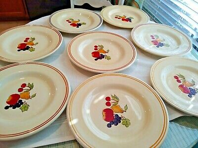 "Tabletops Unlimited Lifestyles SIMPLE FRUIT Dinner Plates 11""  8 pcs"
