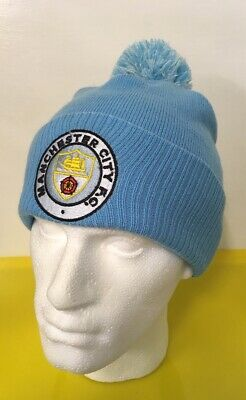 Manchester City FC FOOTBALL Bobble Hat Man City