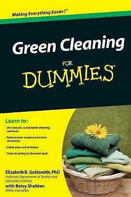 Green Cleaning for Dummies by Elizabeth B. Goldsmith (English) Paperback Book Fr