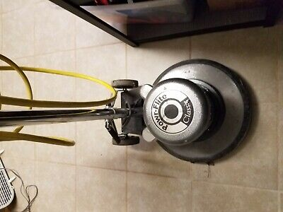 Powr-Flite Classic Floor Buffer Polisher 1.5 HP 175 RPM Excellent Condition