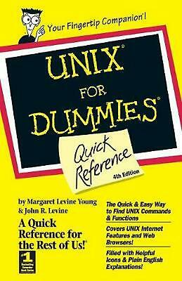 Unix for Dummies Quick Reference by Margaret Levine Young (English) Spiral Book